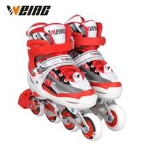 Pattini per bambini impermeabili pattini scarpe pattini a rotelle con siez S / M / L rosso blu rosa disponibili