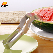 ORZ нержавеющая сталь арбуз слайсер Дыня резак сервер Corer Cantaloupe резки сеялки Слайсеры совок для фруктов инструменты