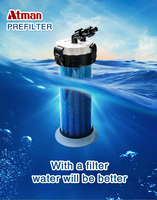 ATMAN unpowered filtering barrel at front of fish tank Household water purifier without changing water and mute for aquarium
