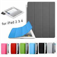 Für Apple IPad 2 3 4 Fall Luxury Ultra Dünne Magnetische Intelligente Schlag-standplatz Pu-leder Coque für Ipad2 Ipad3 Ipad4 Tablet Funda