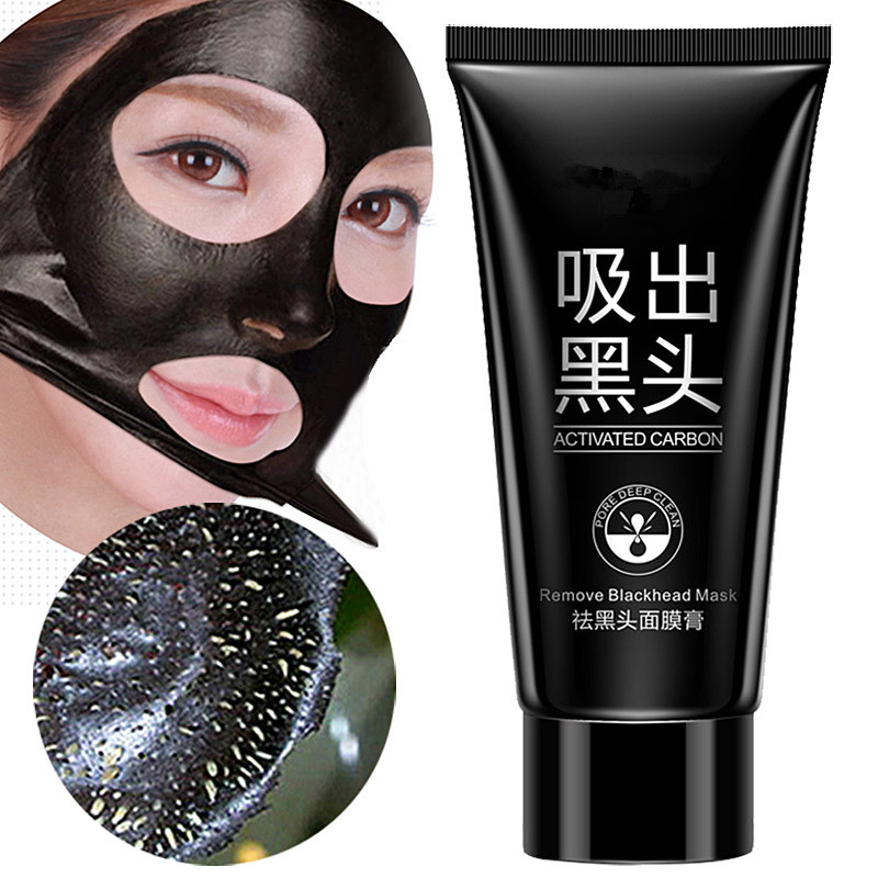 Facial Black Mask Health Suction Acne Nose Blackhead Remover Mask Peeling Peel Off Blackhead Face Care Mud Facial Mask -50