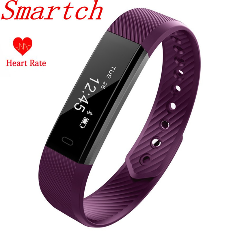 Smartch ID115 HR Wristband Heart Rate Monitor Smart Bracelet Band FitnessTracker Waterproof Bluetooth for Android IOS VS Fitbits