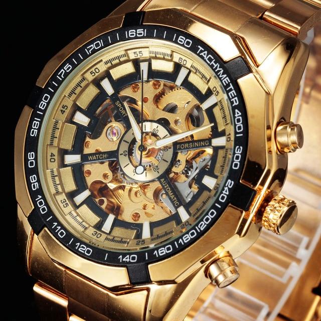 135e79f03f8 Forsining Marca Top Relógio de Luxo Relógios Mens Da Forma do Relógio Dos  Homens Do Esporte
