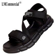 купить Sandals Mens Summer casual thick bottom light anti-skid magic sticker Beach shoes Outdoor Slippers mens gladiator sandals summer дешево