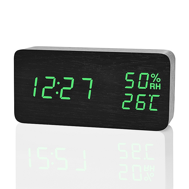 Image 4 - FiBiSonic Modern LED Alarm Clock,Despertador Temperature Humidity Electronic Desktop Digital Table Clocks-in Alarm Clocks from Home & Garden