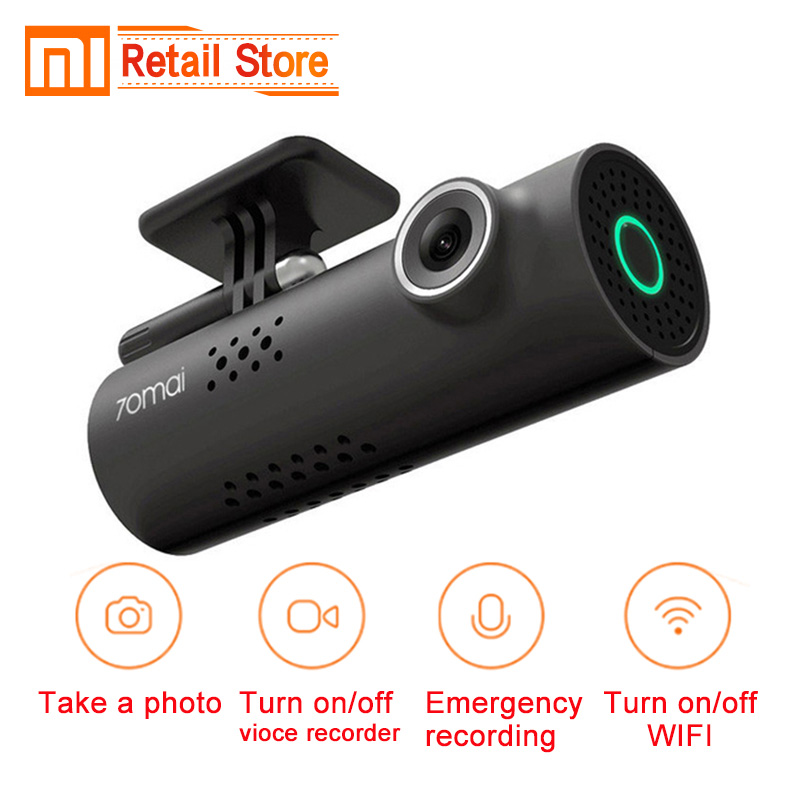 Original Xiaomi 70 Mai Car Dash Smart WiFi DVR 130 Degree Wireless Cam 1080P FHD Night Version G-Sensor Xiomi Driving Recorder