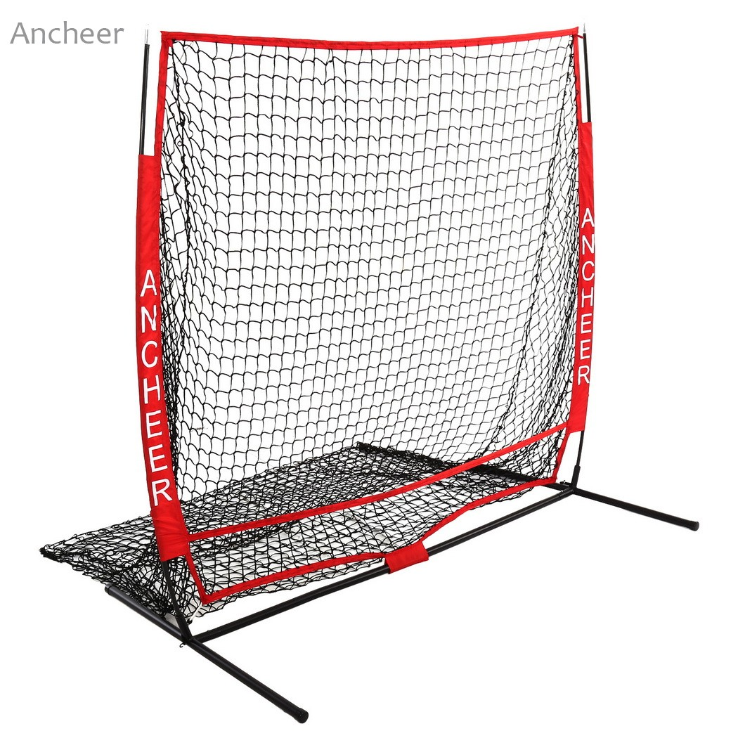 5 x 5ft Baseball Practice Net Softball Practice Net with Bow Frame ...