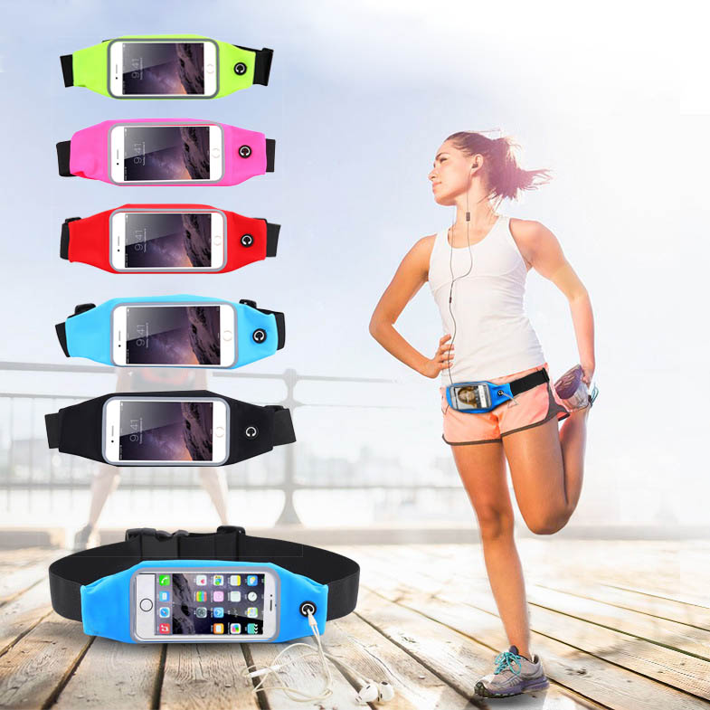KSQ 5.5 Waterproof Sports Bag Waist Case For iPhone 6 6S Plus For Samsung S6 Edge S8 For HTC Outdoor Running Cover Accessories