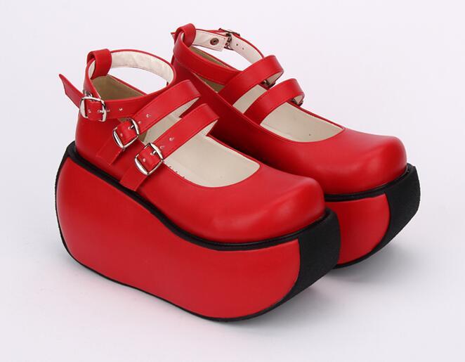Chaussures Lolita Cosplay Pompes Haute Mori Robe De Angéliques Femme rouge Soirée Nouvelle Princesse Femmes Légales Lady 47 Rouge Noir Talons Punk Mentions Fille 33 POqSS0Yzw