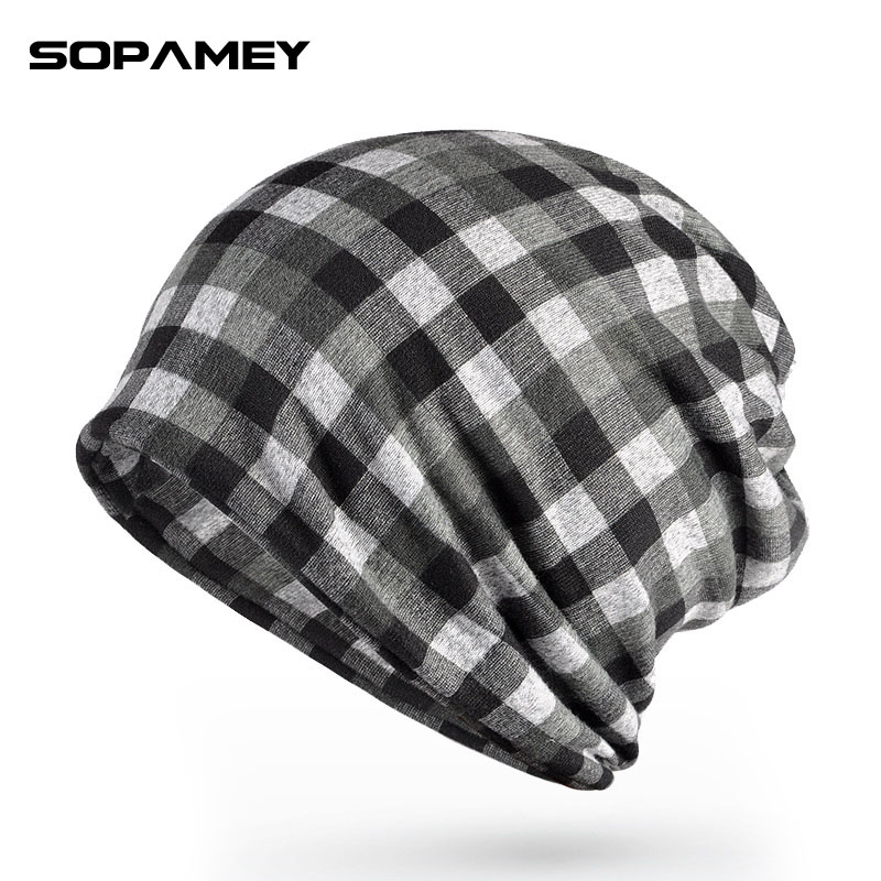 2017Brand Skullies Beanies Plaid Autumn Winter Warm Hat Knitting Women Men Cap Wool Solid Elastic Beanie Hedging Hats Wholesale simplee knitting wool ball skullies beanies casual streetwear warm hat cap women autumn winter 2017 cute beanie hat female