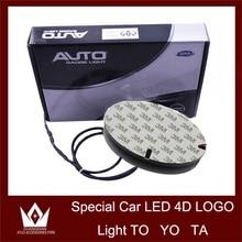 Tcart 1Set 12cm*8cm Auto Led Bulbs Car 4D Logo Light Emblem Front Lamp Original Chrome Badge For Toyota For Corolla Accessories