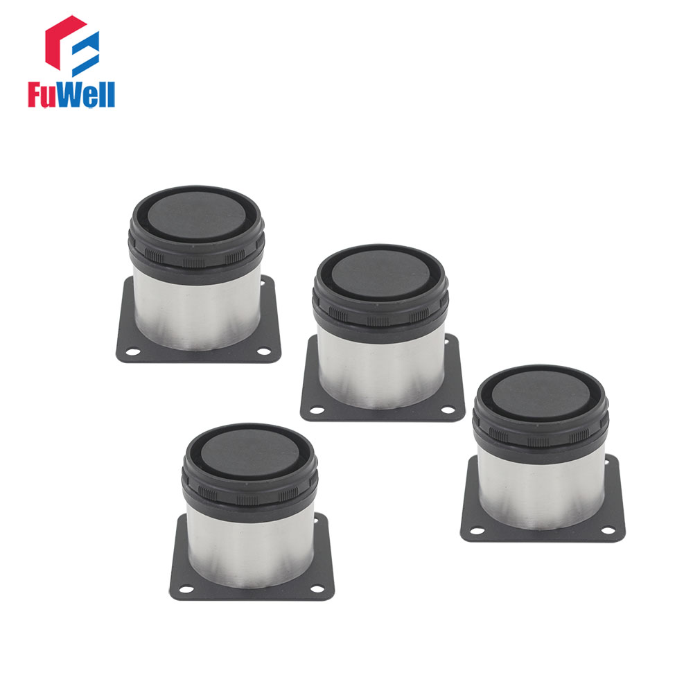 4pcs 60mm Height Adjustable Furniture Legs Cabinet Feet Silver Tone Stainless Steel Table Bed Sofa Leveling Foot bqlzr 80x85mm round silver black adjustable stainless steel plastic furniture legs sofa bed cupboard cabinet table bench feet