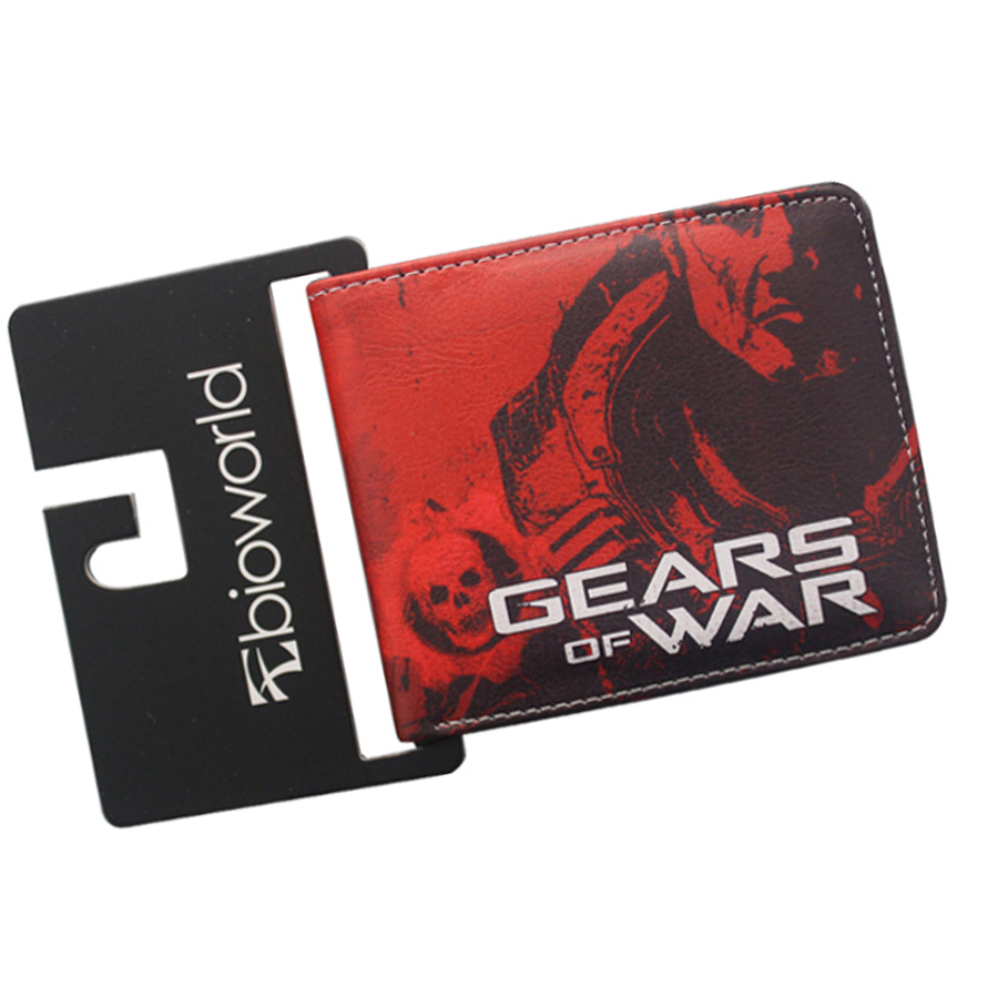 GEARS OF WAR Wallets Magic wallet Dollar bolas Men wallet 3 ID card Holder Slim Short Print leather purse Comic Purse Boy Gift xbox one gears of war 4 ultimate