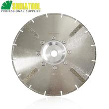 цена на 230mm Electroplated reinforced diamond cutting disc 9 inches marble blade with 22.23mm flange