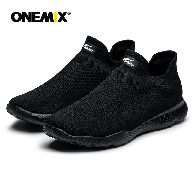 Onemix Men's Shoes Women Summer Knitting Sock Sneakers For Couple Outdoor Loafer Comfortable Mesh Sports Shoes Free Shipping