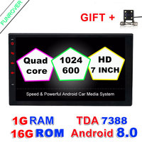 Android 8.0 2 din Car DVD player 2din GPS Bluetooth stereo In dash Radio Quad Core 1G 16G 7 inch 1024*600 screen Universal wifi