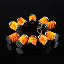10 Pcs Free Shipping Motorcycle Oil Filter For SYM Scooter 400i Max Sym 2011 2012 2013 Paper and Metal цена