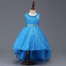 Puffy Flower Girl Dresses 2019 Sequined Bow Communion Dresses Pageant Dresses For Little Girls 2017 cupcake blue crystal flowers baby girl dresses pageant dresses for little girls g284 1