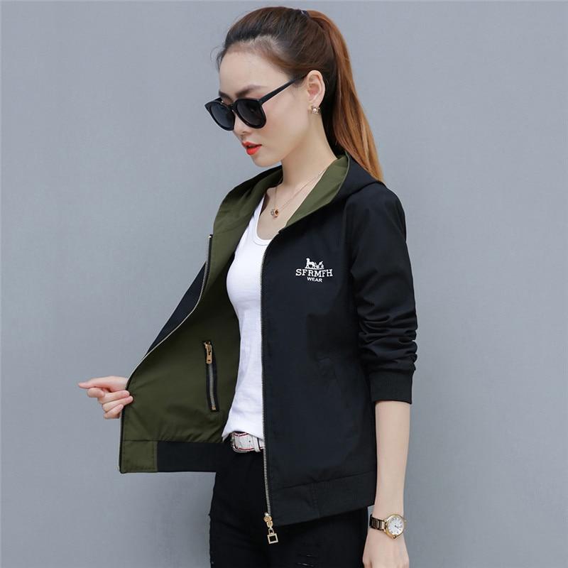 2019 Spring Autumn Large Size New Short Jacket Women Fashion Joker Female Jackets Tops Double-Sided Wear Outwear Tide TTT157 44