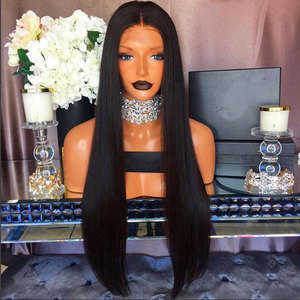 Image 4 - Fantasy Beauty Yaki Straight Lace Front Synthetic Wigs Long Straight Heat Resistant Hair Pre Plucked Wig with Natural Hairline