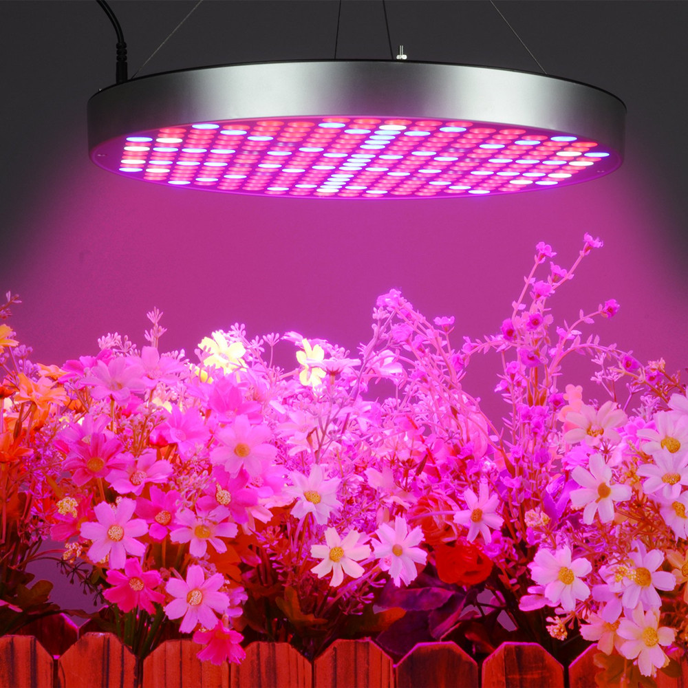 [DBF] 50W Full Spectrum Panel LED Grow Light AC85~265V UV IR Lamps Panel Plant Grow Light 250leds For Greenhouse Indoor Plants