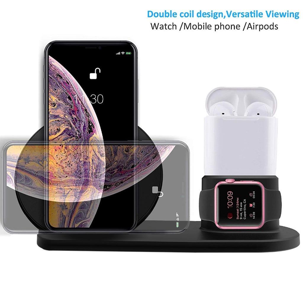 2 en 1 Qi chargeur sans fil pour iPhone X XS Max XR 8 Plus 10W support de charge rapide pour Apple Watch 4 3 2 pour Samsung S9 s10 z70