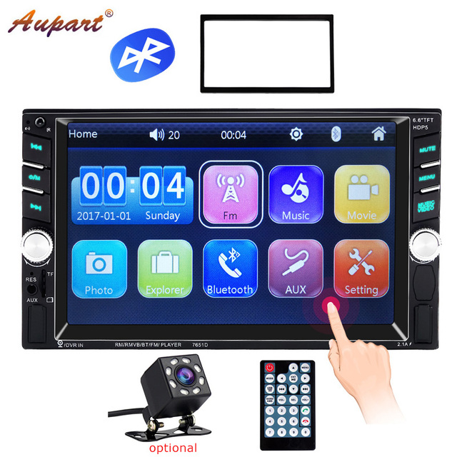 2 Din Car Radio Auto audio Touch Screen 2din autoradio Bluetooth Coche stereo HD Mp5 Radios charger Mirror steering wheel ctrl