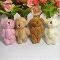 10 шт./лот 6 см плюшевый мини медведь длинная шерсть маленький медведь мягкие животные игрушки плюшевые подвески, 4 вида цветов на выбор прямы...