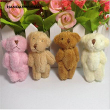10pcs/lot 6cm Plush Mini Bear Long Wool Small Stuffed Animals Toys Pendants , 4 colors to choos  Factory direct sales