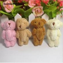 цена на 10pcs/lot 6cm Plush Mini Bear Long Wool Small Bear Stuffed Animals Toys Plush Pendants , 4 colors to choos  Factory direct sales