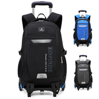2/6 Wheels Removable School Backpack Trolley backpack Waterproof children School Bag boys Kids large capacity Luggage bags