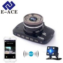 E-ACE Wi-Fi мини Камера Автомобильный видеорегистратор зеркало регистраторы Full HD 1080 P автомобильная видео Регистраторы Авто видеокамера Двойной объектив камера видеорегистраторы