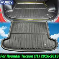 Tailored For Hyundai Tucson TL 2016 2017 2018 2019 Black Boot Cargo Liner Rear Trunk Mat Luggage Floor Tray Carpet 2015
