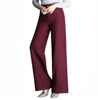 Straight Loose Casual Trousers Wholesale Mother High Waist Wide leg Pants Women New 2018 Plus Size OL Formal Office Pants