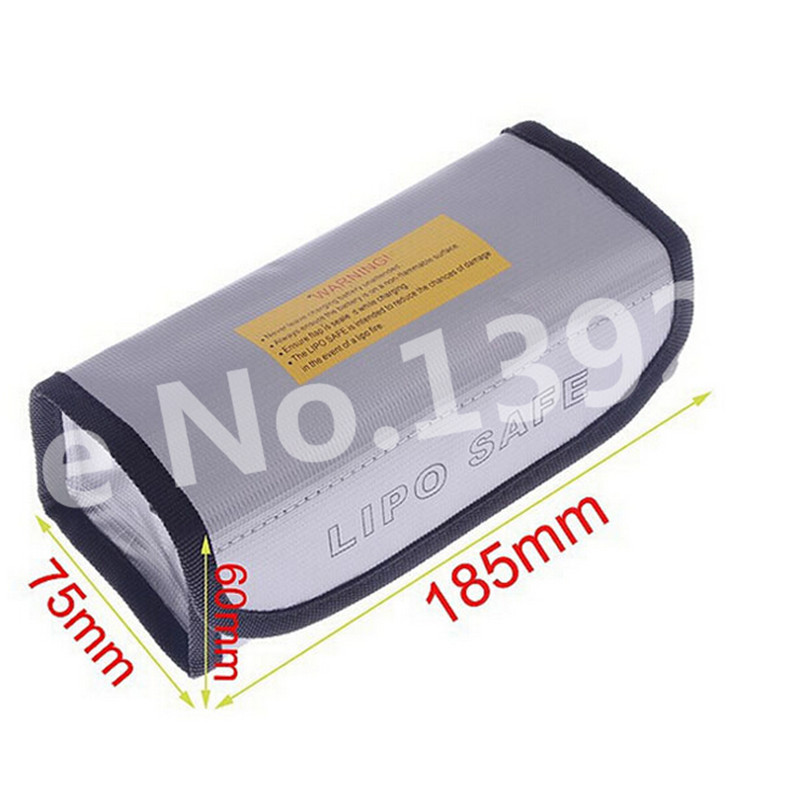 Arrowmax RC Square LiPo Safe Bag Battery Safety Li-Po Protect Bag Pouch Safe Guard Charge Sack 185 X 75 X 60 mm AM-199502