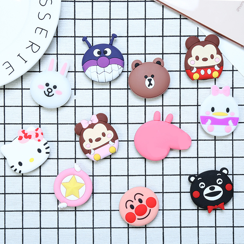 Cute Expanding Silicone Phone Holder Cartoon Kitty Cat Anpanman Mickey Minnie Mobile Stand For Iphone X 7 8 Xiaomi Samsung Ipad