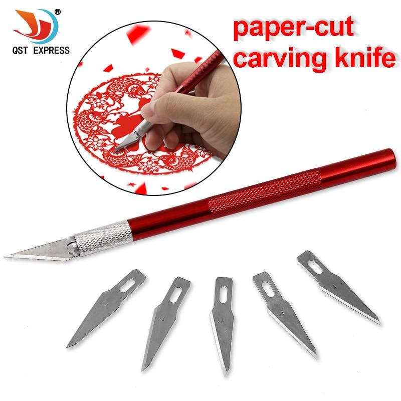 6 Blades Craft Artwork Engraving DIY Cutter Set Model Repairing Multipurpose Sculpture Scalpel Carving Knife