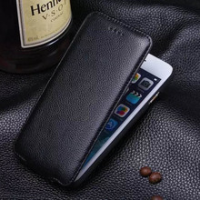 Genuine Leather Cases for iPhone 6 6S Plus Case Up and Down Flip Cover for iPhone 6 S Corium Shell Adsorb Automatically 6S Case