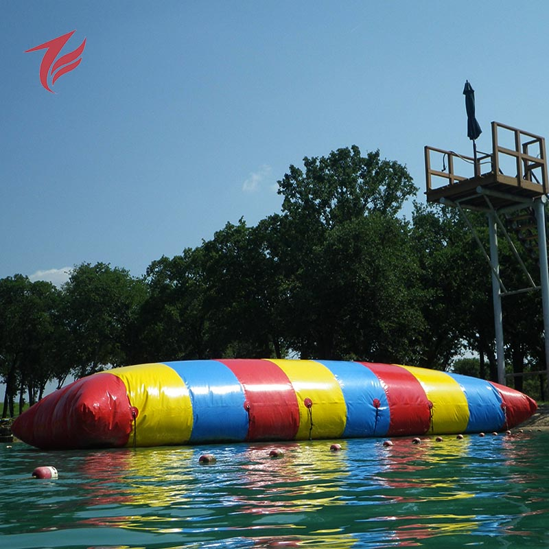 Fun lake Adult games inflatable water catapult blob for