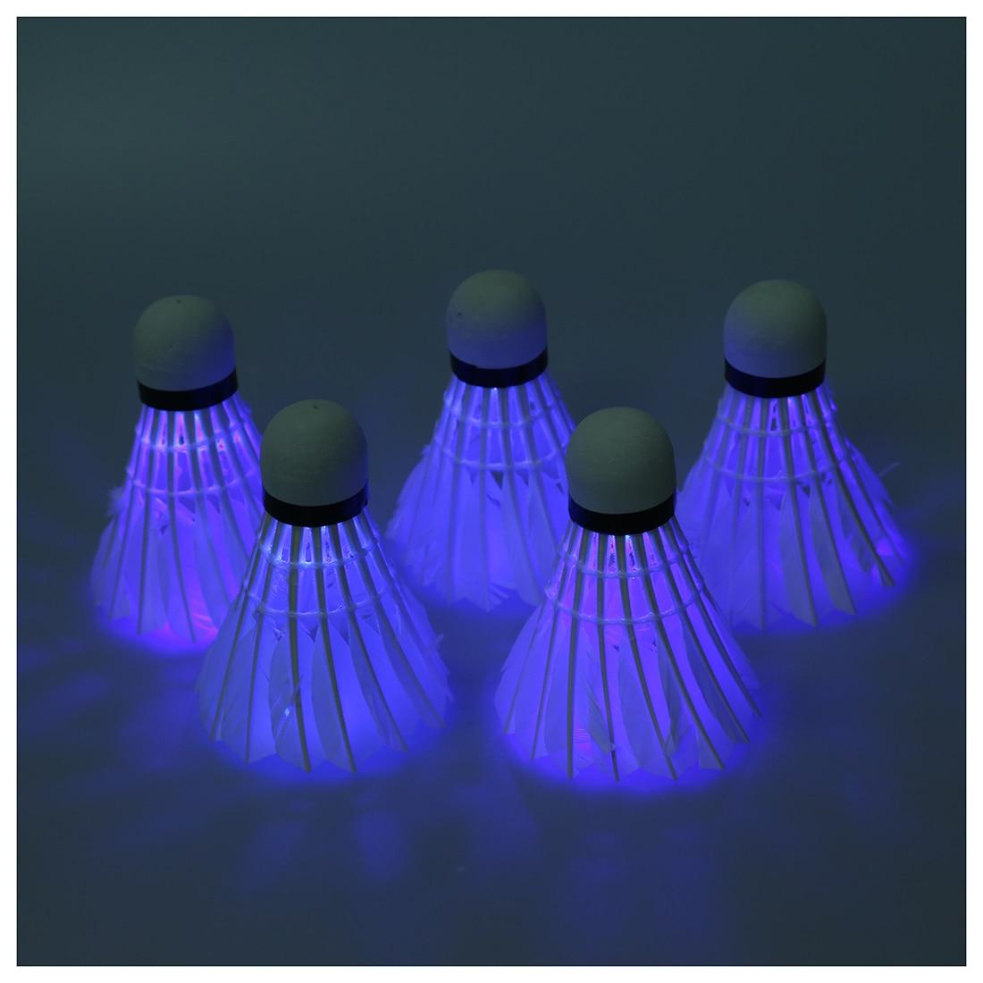 5 * Темная ночь светодиодный Бадминтон Воланы птички Освещение
