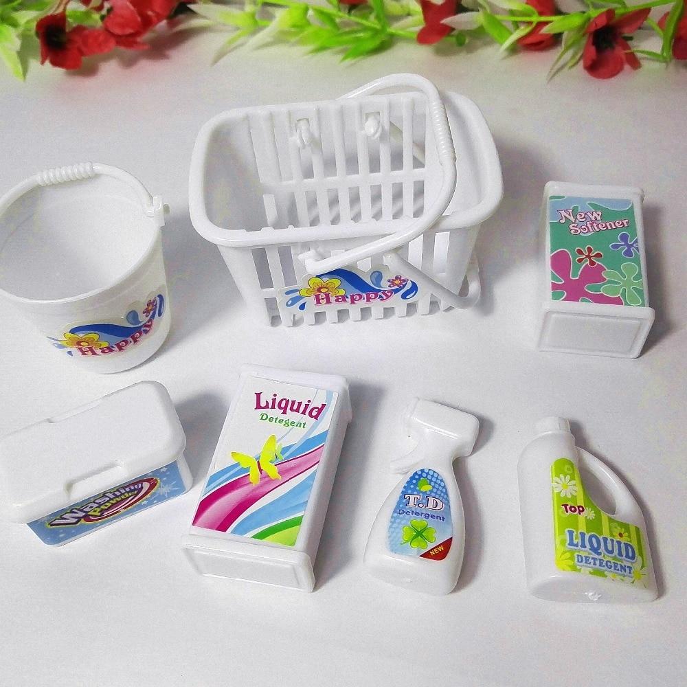 Boîte de butin, seaux, détergents, kit de lavage domestique pour - Poupées et accessoires - Photo 3