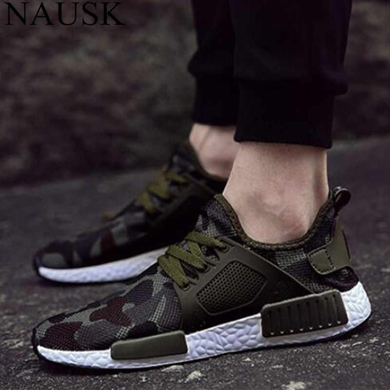 8f277d31a6e2c NAUSK New Casual Trend Men Sneakers Fashion Breathable Comfortable Size  39-48 Lace-up