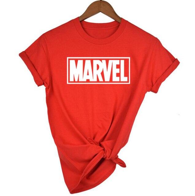 Thời trang Marvel Ngắn Tay Áo T-Shirt Phụ Nữ Đen Panther in t áo sơ mi O-Cổ truyện tranh Marvel áo sơ mi áo Phụ Nữ quần áo trắng Tee