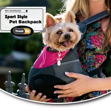 Treat Me,Dog Carrier Bags,Fashion Breathable Outcrop,Front Chest Puppy Backpack,Portable travel,Pet Backpack For Small Cat
