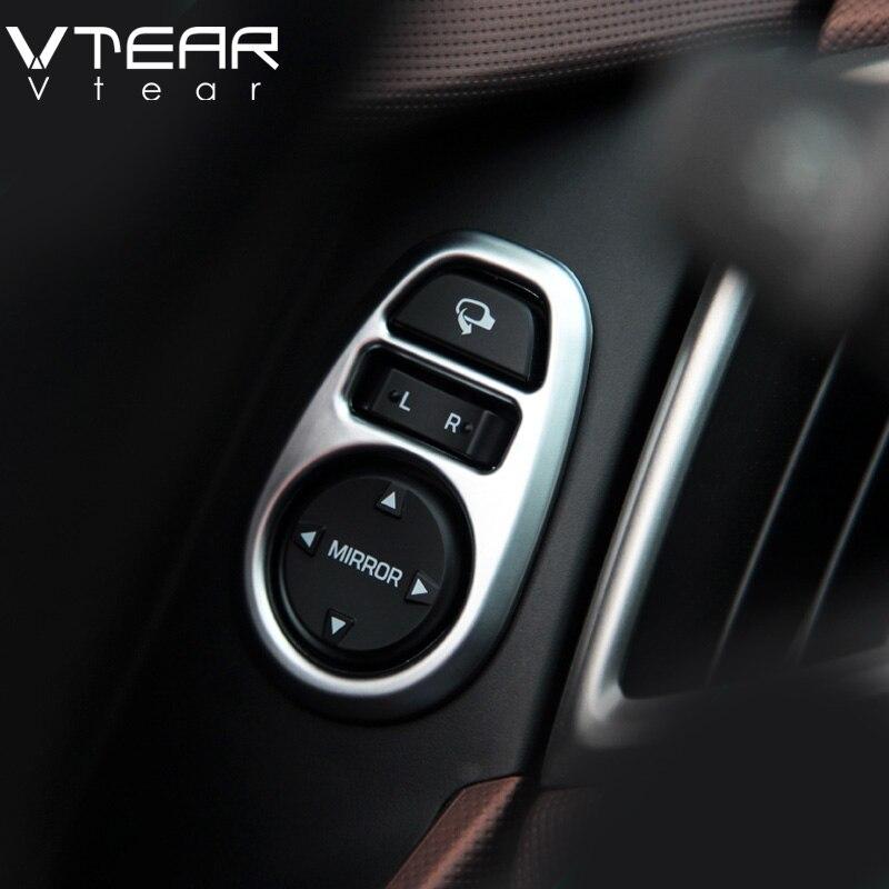 Vtear Für Hyundai Creta ix25 rückspiegel einstellung panel schalter abdeckung chrom styling trim Innen Refit produkte zubehör