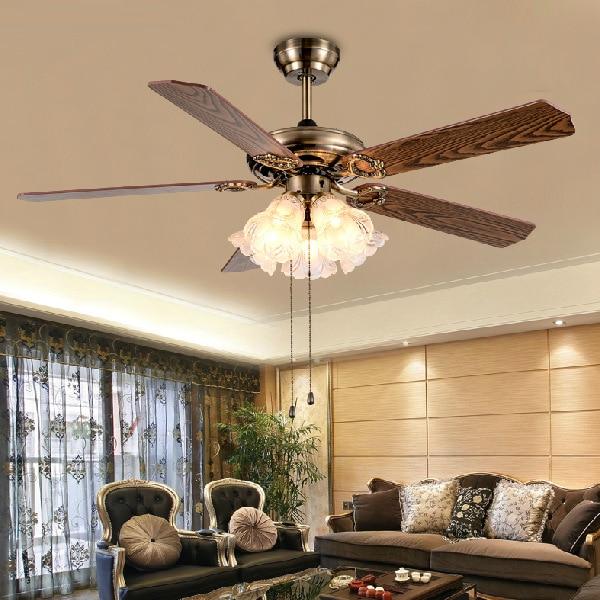 100 240v Romantic ceiling fan for living room dinning room ceiling