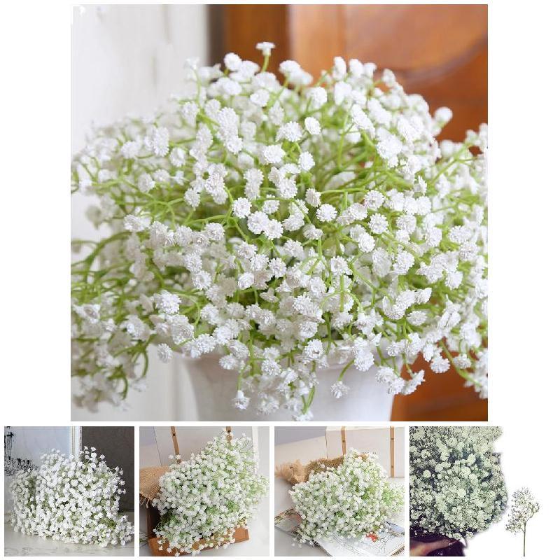 1/2/4/5/10/20/30 Bouquets Fake Silk Artificial Gypsophila Flowers Wedding Bridal Bouquet Party Home Decor TB Sale