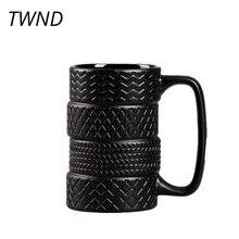 Tazze da caffè divertenti per pneumatici tazze da tè in ceramica bicchieri creativi di grande capacità