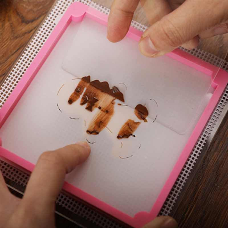 Bánh Stencil Sửa Chữa Khung TỰ LÀM Khuôn Ngọt Ngào Cookies Baking Rắn Màu Không độc hại Nhựa Công Cụ Bánh Trang Trí