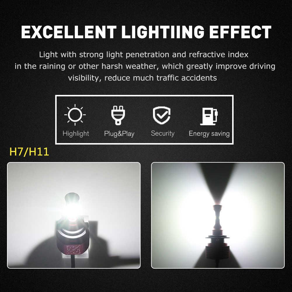 NOVSIGHT H11/H8/H9 H7 LED Car Fog Lamp Bulbs 9005/HB3 9006/HB4 2400lm Driving Led Fog Light